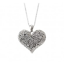 Colier Bloom of Heart Silver