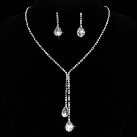 Set Bijuterii Two Divine Drop Diamonds