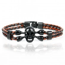 Bratara Miro Skull Black Brown