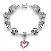 Bratara Charm Light Pink Heart
