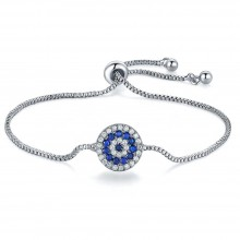 Bratara Charm Blue Flower