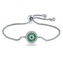 Bratara Charm Green Flower
