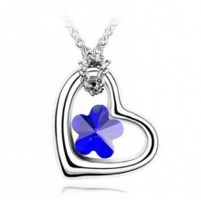 Colier  Romantic Blue Heart 18K