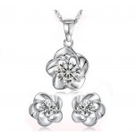 Set Zircon Flower