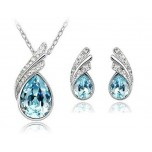 Set Blue Drop cu cristale Swarovski