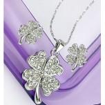 Set bijuterii Diamond Clover 18K