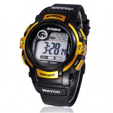 Ceas Digital Synoke Yellow
