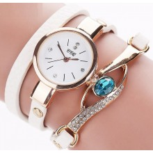 Ceas Dama White Blue Crystal